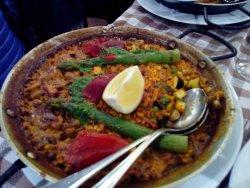 Paella légumes et poulets