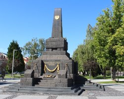 A monument to fallen soldiers of the Soviet Army