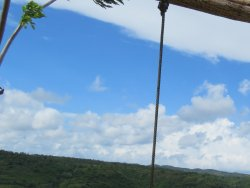 Sit on the swings and enjoy the view of Nusa Penida