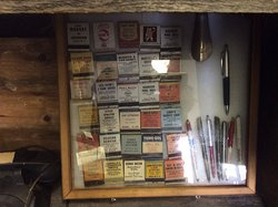 Old matchboxes with local advertising