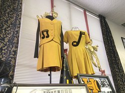 Songleader outfits from Hughson High School