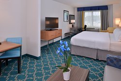 Enjoy the additional space our King Size Suite has to offer.