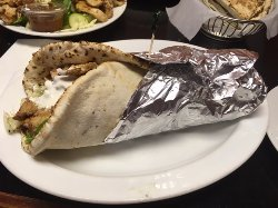 chicken gyro...huge!!! enough easily for two people