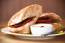 Bacon on ciabatta