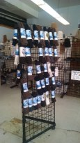We carry a large selection of alpaca socks.  These socks are so soft and comfy and very function