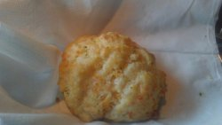 Red Lobster biscuit: not much cheese and not thoroughly cooked