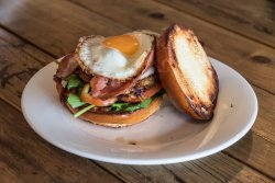 Our epic brekky burger