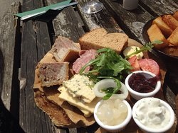 Ploughmans and Huntsmans with a side of chips.