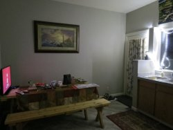 Table in the kitchen area