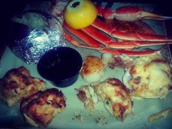 Broiled Seafood Platter. Great price for great food! Stuffed oyster was amazing. A lot of food.