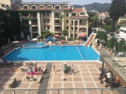 This is a view from our room that overlooks the pool