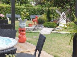 Jardin paysagé sécurisé pour les enfants