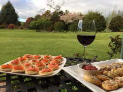 Delicious complimentary canapes & wine each evening.