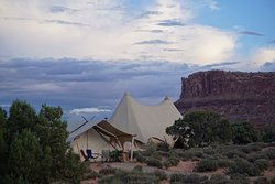Everything you'd want glamping to be in main tents, teepees terrible