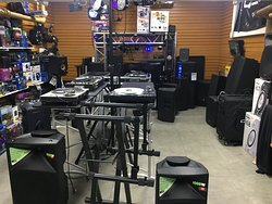 Rock and Soul DJ Equipment and Records