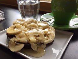 Banana-honey toast.