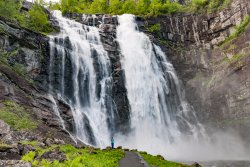 Skjervsfossen Waterfall