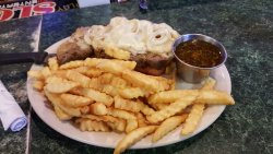 Open Face Prime Rib Sandwich, was a special on a Sunday. Mmmmm Good!