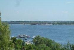 Bridge Across River Volga