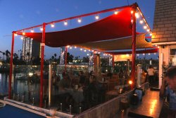 The Lighthouse Oyster bar and Grill affords spectacular views