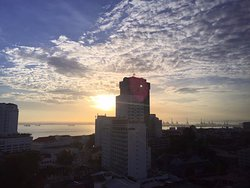 Sunrise View from my room... Room 1117 in the 11th floor...