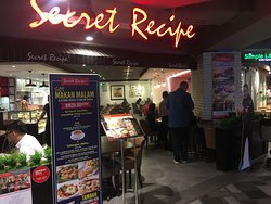 Variety of restaurants in the shopping mall