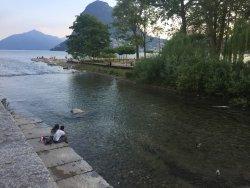 Trevligt ställe vid vattnet