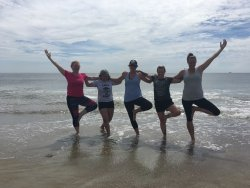 Beach Yoga at Tybee