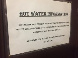 Odd hot water rules