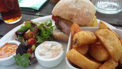 Badingham Burger At The White Horse