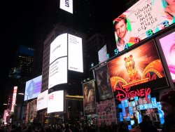 Times Square. 3 min walk from the hotel
