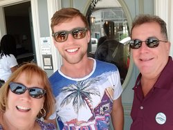 My husband and I with our tour guide Kevin