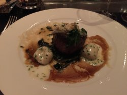 Seared Filet of Beef with Potato Gnocchi