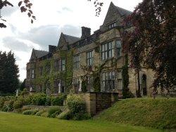 English manor in quiet neighborhood of industrial town