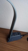Trendy Table Lamp with Universal Electrical Plugs and USB
