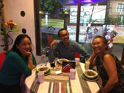 Window seat with great friends enjoying our Noodle Soups