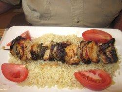 Chicken Shish-ka-bob (minus long hot pepper)