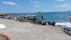 vue de la plage du ponton