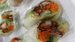 Rice paper rolls $3.5