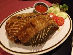 Deepfried grouper
