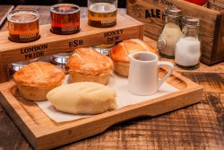 The Admiralty - serving our famous Ale & Pie tasting board