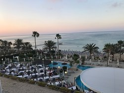 Our Recent Trip to the Sunrise Beach. Shows views from the Balcony, Adult Pool and the beach.