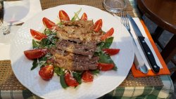 Beef strips, -very soft,
