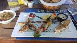 brochettes de poissons marinées