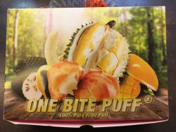 It really explodes in your mouth but durian taste can be stronger in the puff
