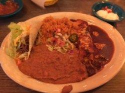 Taco and Enchilada Combination