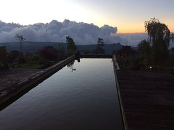 Sunsetting over the fish pond