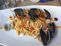 Seafood linguine and Normandy chicken