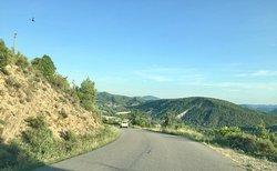 Road from Casa Coronas to Ainsa