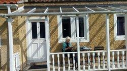 A nice sunny verandah outside the accommodation